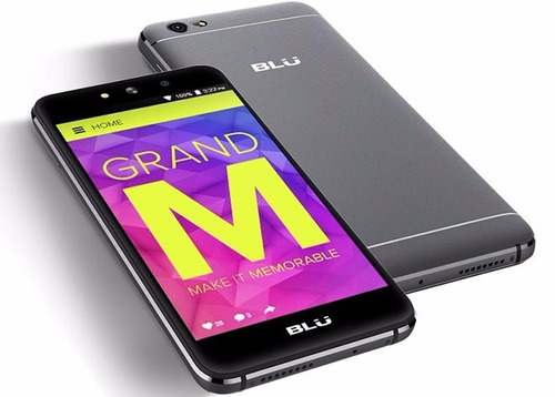 blu grand m flash frontal cuerpo metalico 8gb android 6