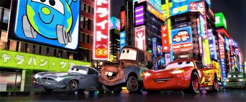 blu-ray 3 d disney: cars 2 - una nueva aventura sobre ruedas