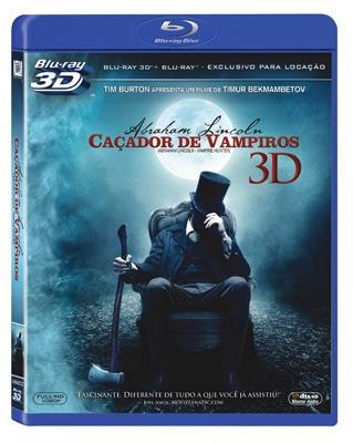 blu-ray 3d + blu-ray abraham lincoln - o caçador de vampiros