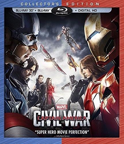 blu ray 3d captain america civil war marvel + hd