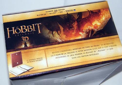 blu-ray 3d - trilogia o hobbit - gift set - edição limitada