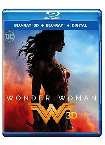 blu-ray 3d : wonder woman (with blu-ray, 2 pack, 2 disc)