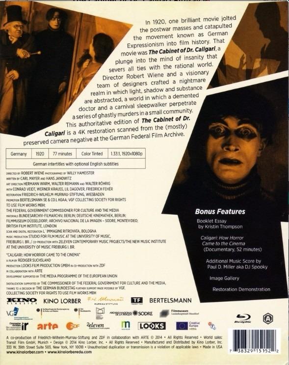 Blu-ray 4k Cabinet Of Dr. Caligari Novo Lacrado [importado] - R$ 179 on