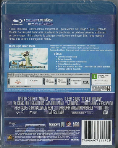 blu-ray a era do gelo 2 - lacrado