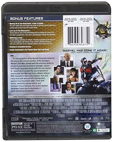 Blu-ray : Ant-man (dubbed, Ac-3, Dolby, Digital Theater