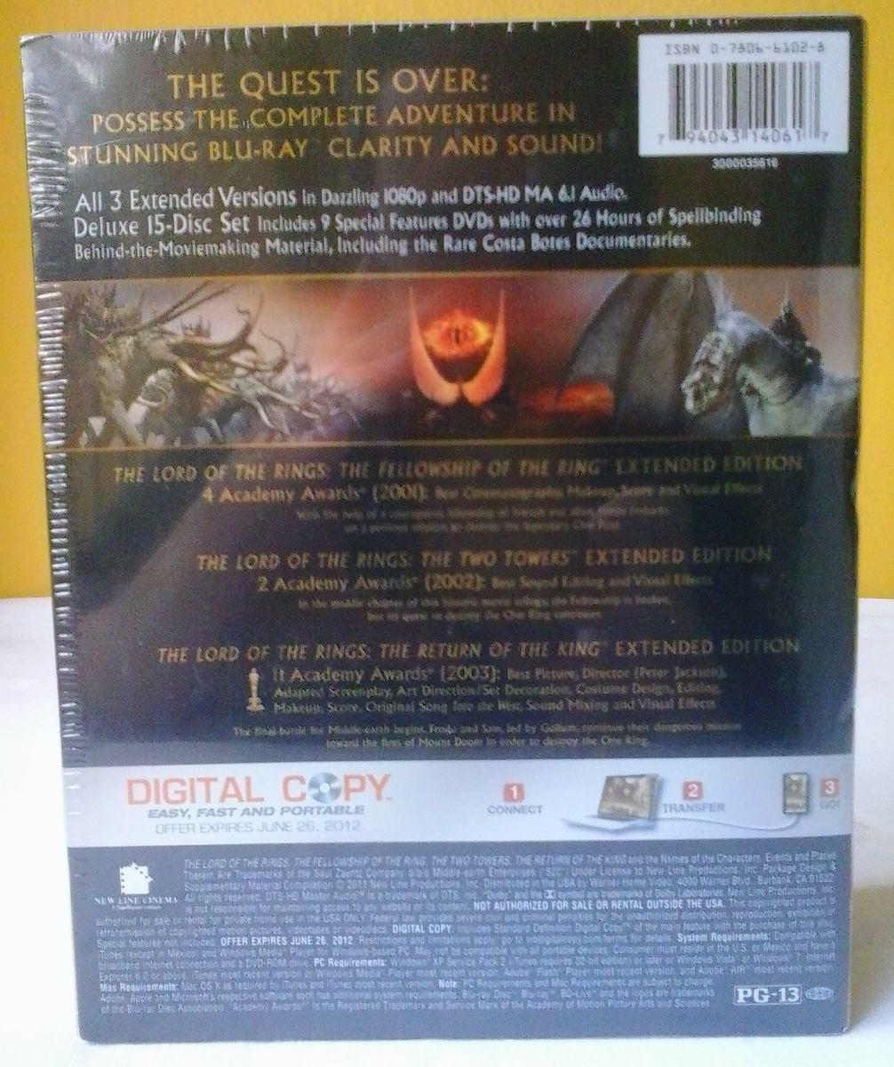 Blu-ray Box Importado Trilogia Extendida O Senhor Dos Anéis