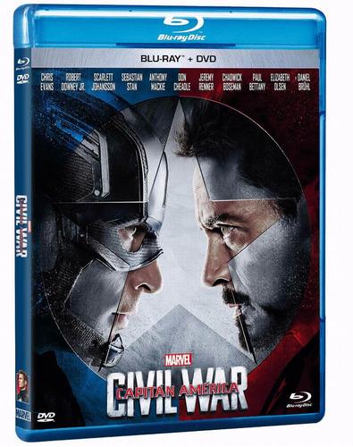blu ray capitan america civil war + dvd