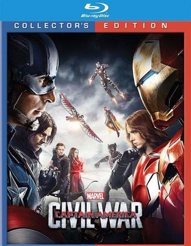 blu-ray captain america civil war / capitan america 3 3d 2d