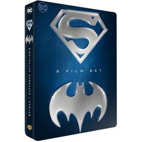Blu-ray Coleção Batman E Superman 9 Filmes Lata Dublado