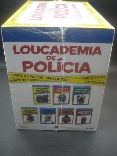 blu-ray - coleção loucademia de polícia (7 discos) original
