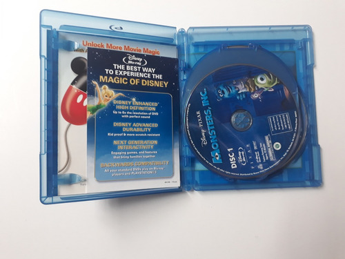 blu-ray disney / buena vista: monsters, inc.- monstruos, s.a