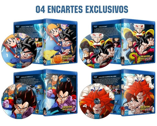 blu-ray dragon ball gt dublado legendado envio digital