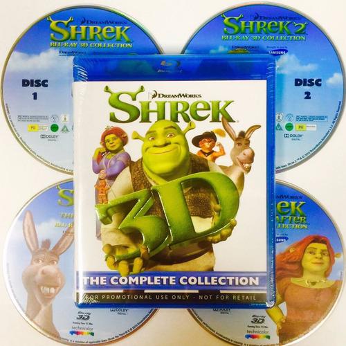 blu-ray dreamworks:   shrek - la colección completa
