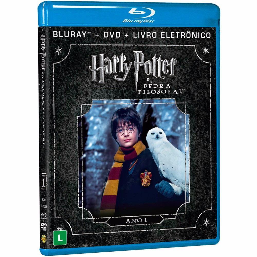 Harry Potter É A Pedra Filosofal throughout blu-ray dublado + dvd harry potter e a pedra filosofal - r$ 49,90