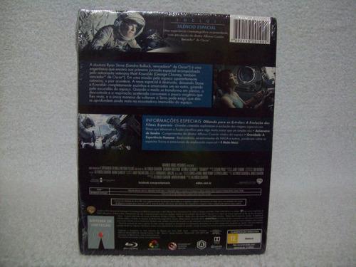 blu-ray duplo gravidade- com luva- lacrado de fábrica