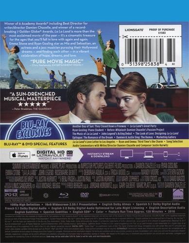 blu-ray + dvd la la land