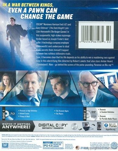 blu-ray + dvd paranoia
