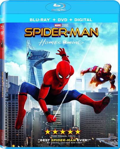 blu-ray + dvd spiderman homecoming / el hombre araña 2017