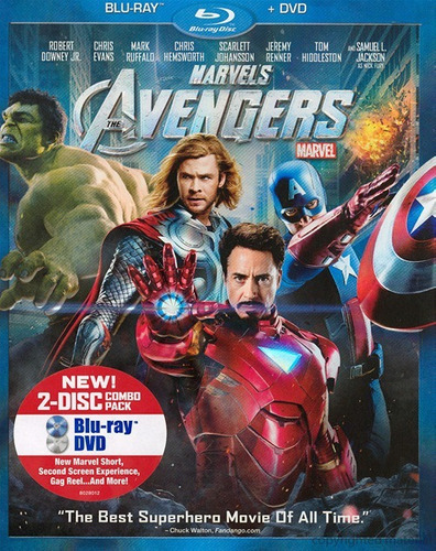 blu-ray + dvd the avengers / los vengadores de marvel