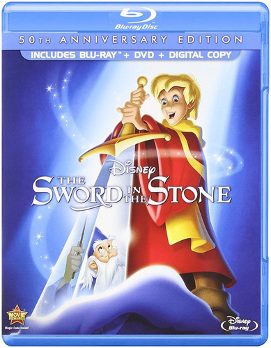 blu-ray + dvd the sword in the stone / espada en la piedra