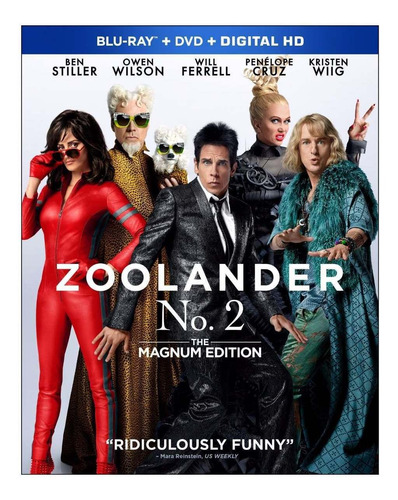 blu-ray + dvd zoolander no. 2