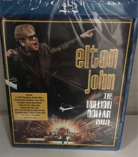 blu ray - elton john - the million dollar piano