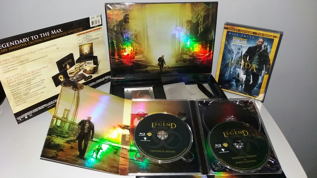 Blu-ray Eu Sou A Lenda Ultimate Collector's Gift Set +brinde