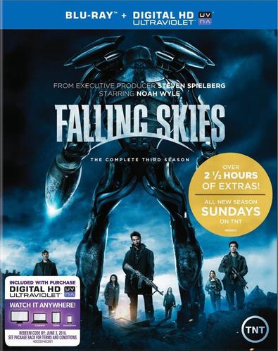 blu ray falling skies: 3ra. temporada - stock - nuevo