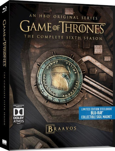 blu-ray game of thrones 6ª sexta temp dub/leg  steelbook