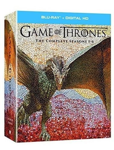 blu-ray : game of thrones: season 1 - season 6 (gift set,...
