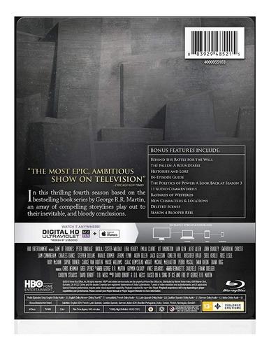 blu-ray game of thrones season 4 temporada 4 steelbook iman