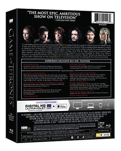 blu-ray : game of thrones: the complete fourth season...