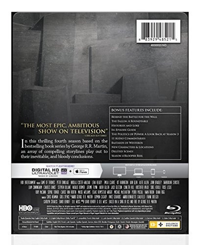 blu-ray : game of thrones: the complete fourth season (s...
