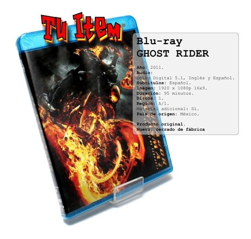 blu-ray ghost rider marvel original nuevo