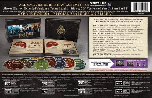 blu-ray gift set harry potter hogwarts collection americano