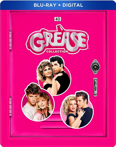 blu-ray grease collection / incluye 3 films / steelbook