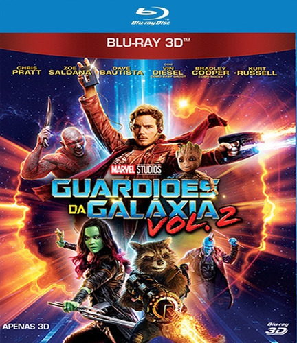blu-ray - guardiões da galáxia vol. 2 - 3d - lacrado