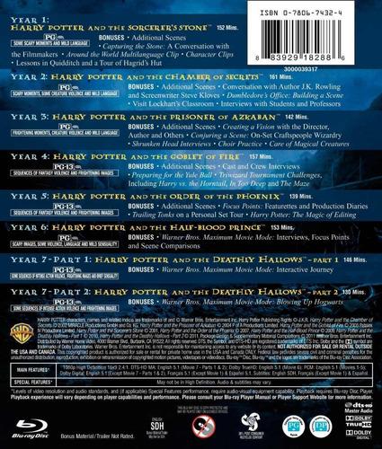 blu ray harry potter complete 8  film  castellano