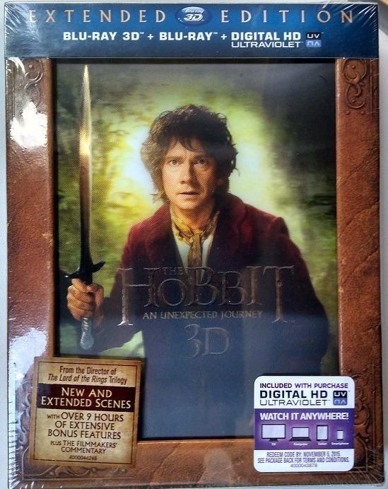 Blu-ray Hobbit Unexpected Journey (delux 5 Discs) Pt Entrega