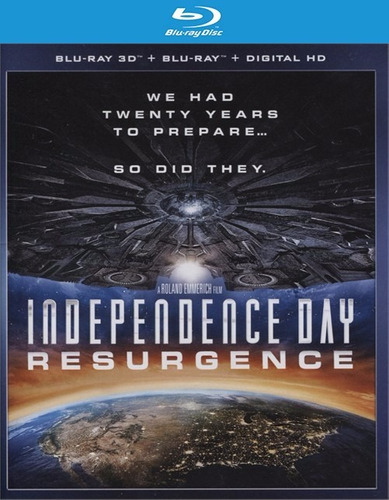blu-ray independence day 2 dia de la independencia / 3d + 2d