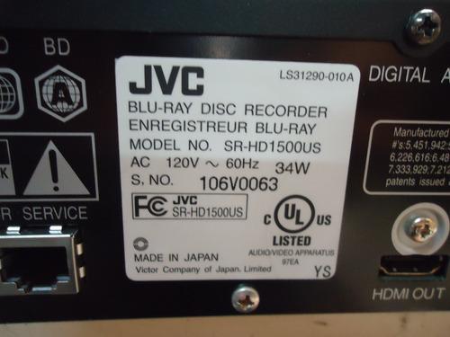 blu-ray jvc sr-hd1500