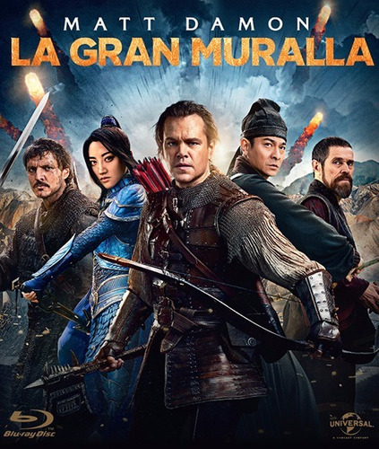 blu ray  la gran muralla - the great wall estreno original