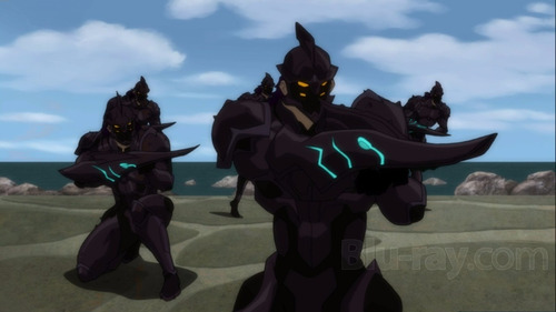 blu ray liga de la justicia: throne of atlantis - stock