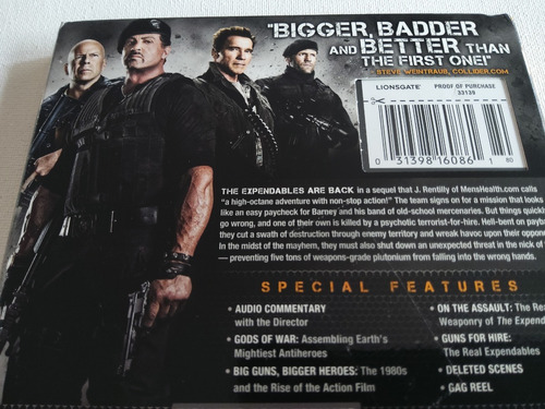 blu-ray  lionsgate:  expendables 2 -  los indestructibles 2