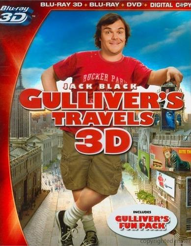 blu ray los viajes de gulliver 3d + dvd 4 discos