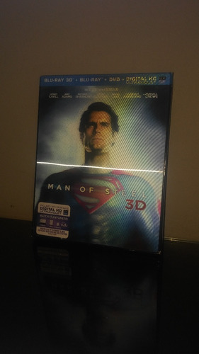 blu ray man of steel 3d / hombre de acero (cover lenticular)