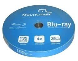 blu-ray multilaser 4x 25gb printable - 10 unidades