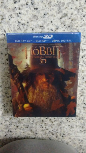 blu ray o hobbit, uma jornada inesperada 3d - lacrado