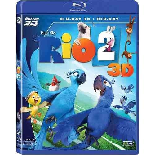 blu-ray original 3d + bluray: rio 2