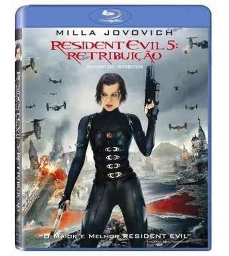 blu-ray original do filme resident evil 5: retribuição